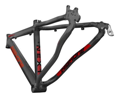 Kit Quadro High One Next Grafite/vermelho Tam 17