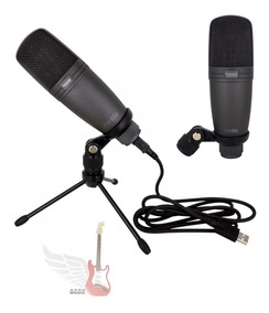 Microfone Condensador Usb Studio Novik Fnk-02u + Cabo Usb