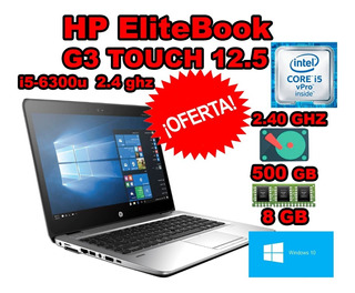 Laptop I5 6ta Hp Elitebook 820 G3 8gb 500gb Touch 12.5 Pulg