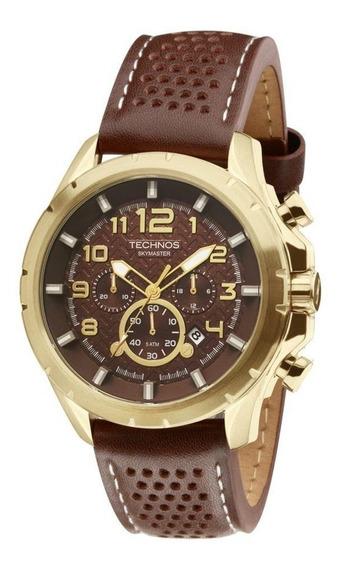Relógio De Pulso Technos Marrom E Dourado Js25bg/0m