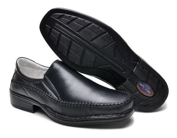 Sapato Masculino Social Casual Antistress Ortopédico Couro