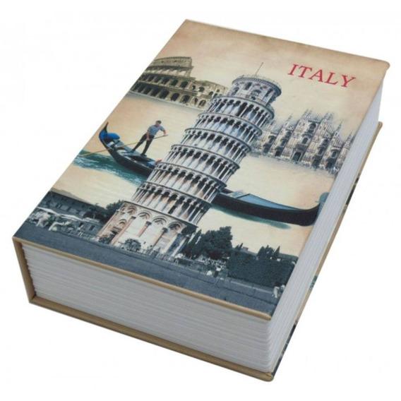 Cofre Estampas Formato Livro | 2 Chave | 24x15 Book Safe