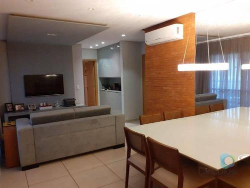 Edifício Cabreuva - Apartamento Com 2 Suítes À Venda, 91 M² Por R$ 669.000 - Jardim Botânico - Ribeirão Preto/sp - Ap3007