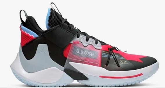 Tenis Jordan Why Not Zer0.2 Se Negro, Gris, Rojo