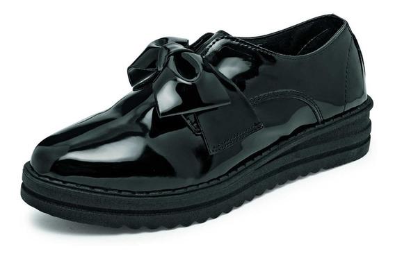 Zapato Casual Con Plataforma Pasion Modelo 641 Color Negro