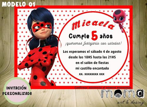 Invitaciones Imprimibles Y Digitales - Miraculous Ladybug