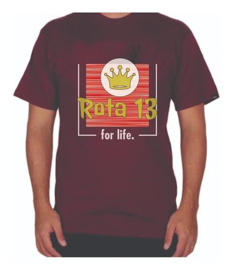 Camiseta Camisa Masculina Algodão Gola Redonda Estampada Rt9