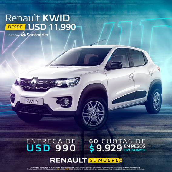 Renault Kwid 1.0 Zen ( 1era Cuota A Los 3 Meses)