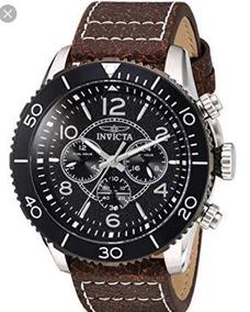 Relógio Masc. Invicta Aviator 24552-original/couro/100m