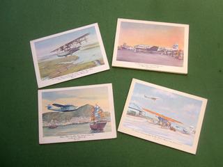 Tarjeta Avion Pan American Menu Aviacion Linea Aerea Antigue