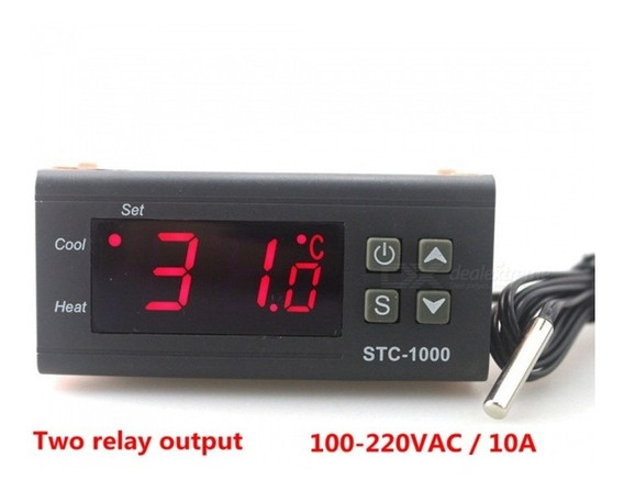 Zhaoyao Dois Relay Output Led Digital Temperatura Controlado