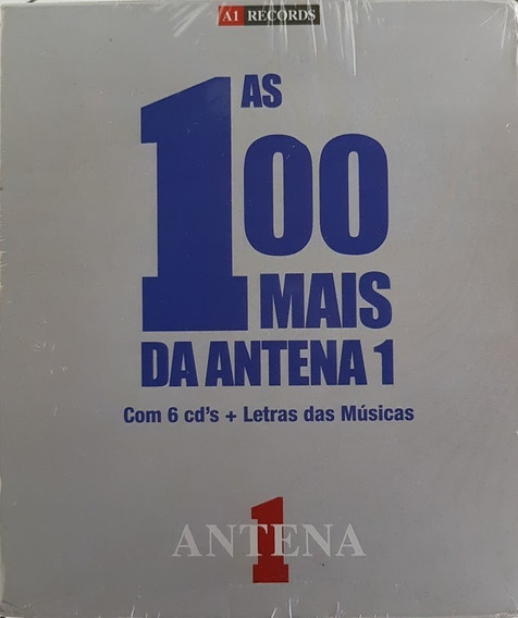 Box As 100 Mais Da Antena 1 - 6 Cd+letras Das Música Lacrado
