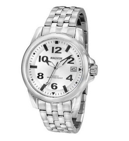 Relógio Magnum Ma33022q Calendario Pulseira Metal