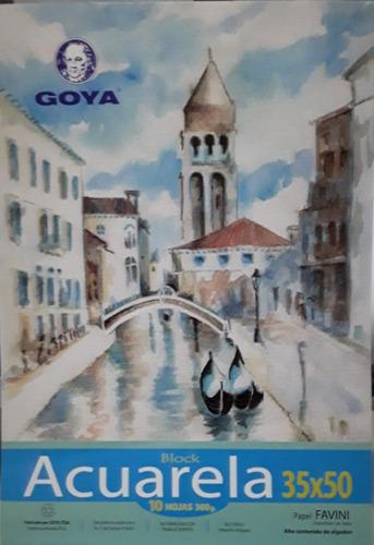 Block 35 X 50 10 Hojas Papel 100% Algodón Goya