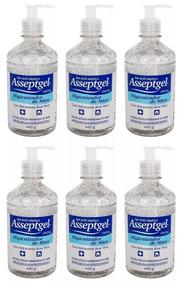 Gel Antisséptico Higienizador De Mãos 420g Asseptgel 12uni
