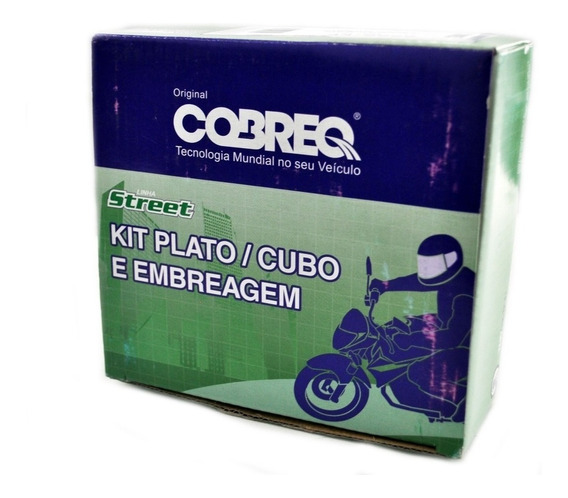 Kit Embreagem Cobreq Cubo Platô Disco Honda Bros 150 Todas