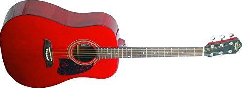 Imagen 1 de 3 de Oscar Schmidt Og2trau Guitarra Acústica Trans Rojo