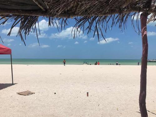 Terreno Frente A La Playa En Celestún En Esquina