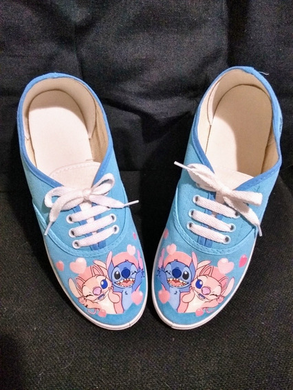 Zapatillas De Stitch Y Angel.