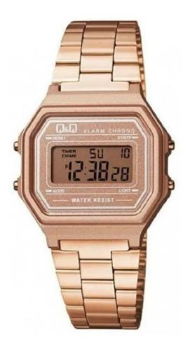 Reloj Q&q Oro Rosa Retro Alarma 100% Original Envio Gratis