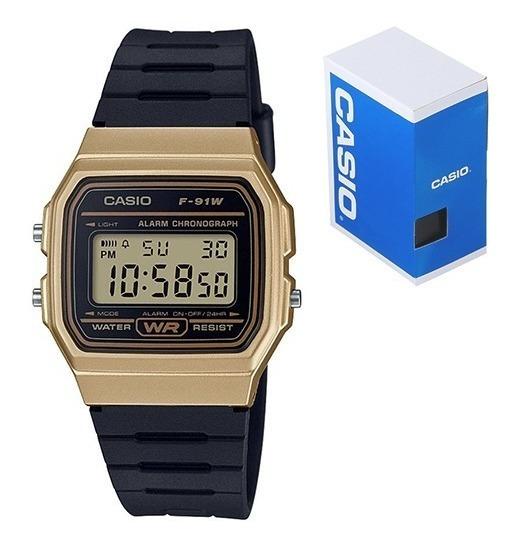 Reloj Casio Clasico F91 Vintage Dorado Original Envío Gratis