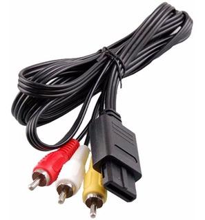 Cable Rca Av Para Nintendo Snes N64 Gamecube