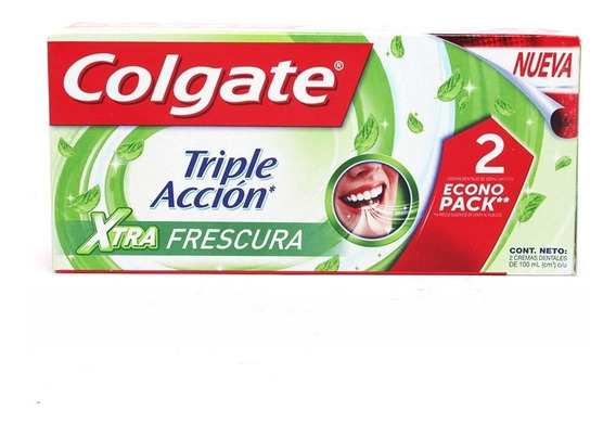 Colgate Crema Dental Triple Accion Extra Fresh 2/100 Ml