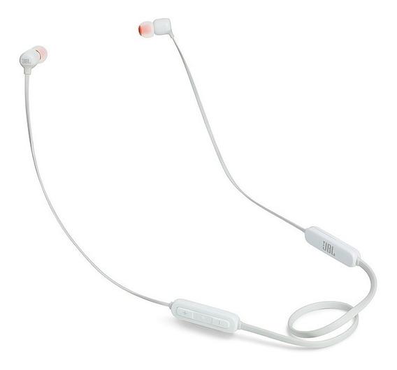 Fone De Ouvido Jbl T110 Bt Branco Intra Auricular Bluetooth