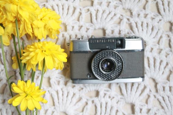 Câmera Analógica Olympus Pen Ee Vintage Funcionando