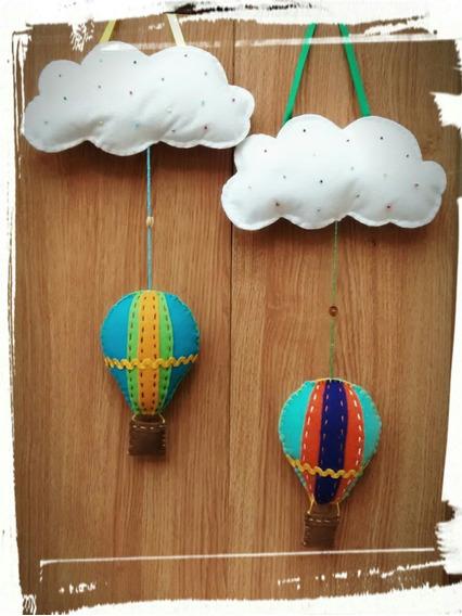 Balões E Pipas Feitos Em Feltro.