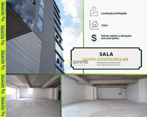 Imagem 1 de 14 de Sala Para Alugar, 122 M² - Santo Agostinho - Belo Horizonte/mg - Sa0090