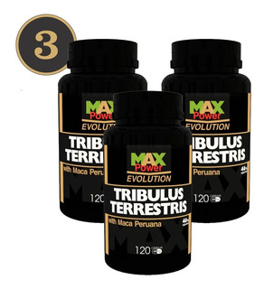 Oferta Combo 03 Tribulus Max Power Com Maca Peruana 120 Cps