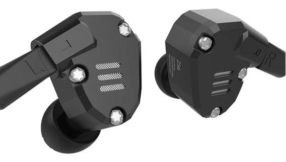 Fone Kz Zs6 Monitor Retorno De Palco Mp3 Sem Mic Case Brinde