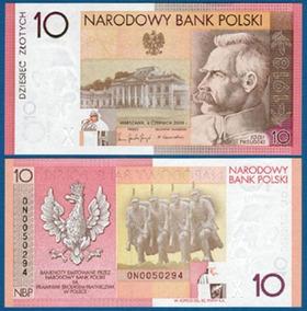 Polonia 10 Zlotych 2008 P. 179 Fe Cédula Folder - Tchequito