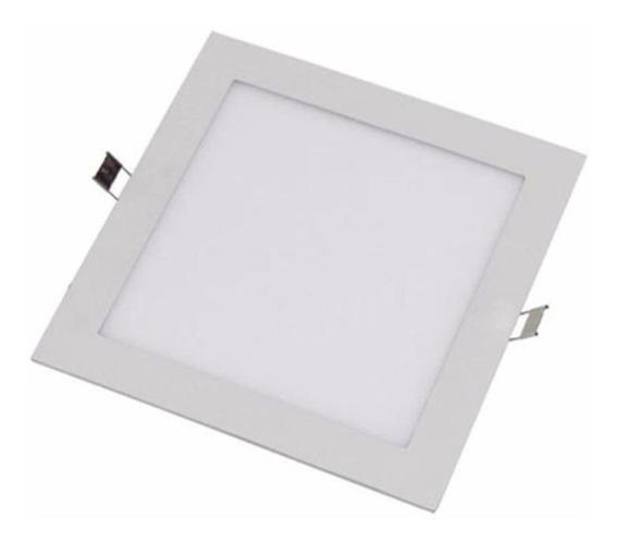 Kit 5 Painel Luminária Embutir Led 6w 12x12cm Quente / Fria