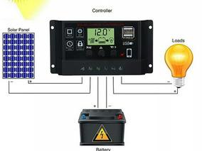 Controlador De Carga Solar 60 A Pwm