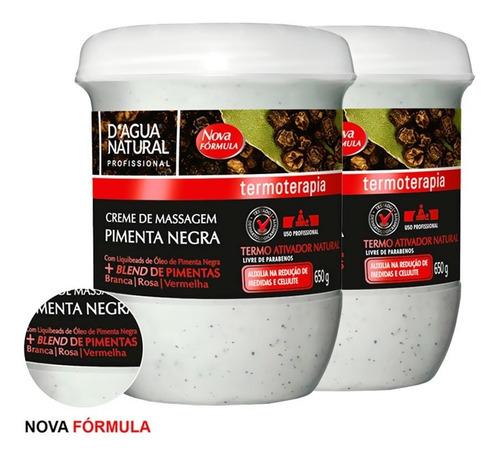 Imagem 1 de 5 de Kit 2 Cremes Pimenta Negra 650g Dagua Natural