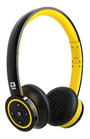 Fone De Ouvido C3 Tech H-w955b Yl Com Microfone Amarelo