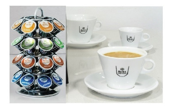 Capsulas 150 Britt Espresso Y Set - Unidad a $1400