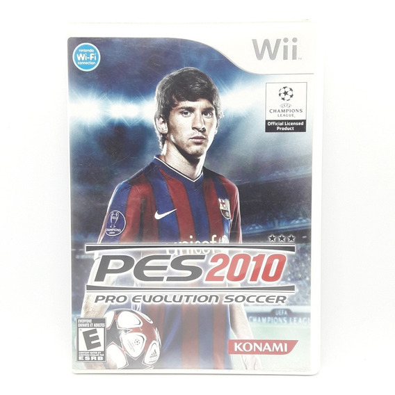 Pes 2010 Nintendo Wii Midia Fisica Original Game Jogo