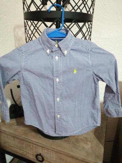 Camisa Polo Ralph Laurent Kids Talla 2 Azul