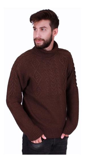 Sweater Cuello Polera Lana