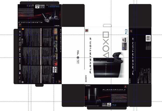 Arte Em Pdf Caixa Playstation 3 Fat
