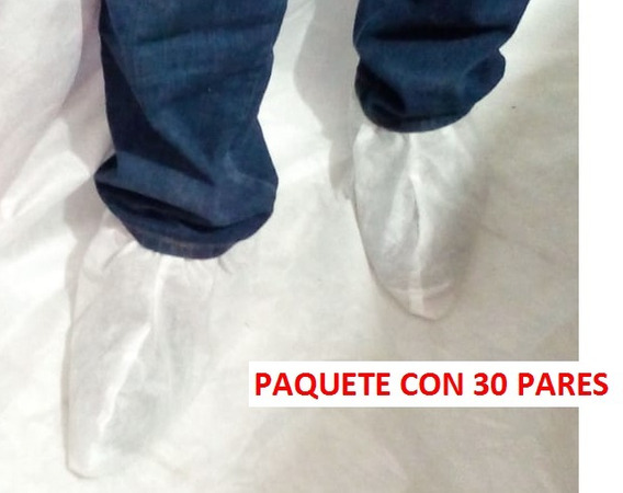 Paquete Cubre Zapato Desechable Blanco. Paq 30 Pares
