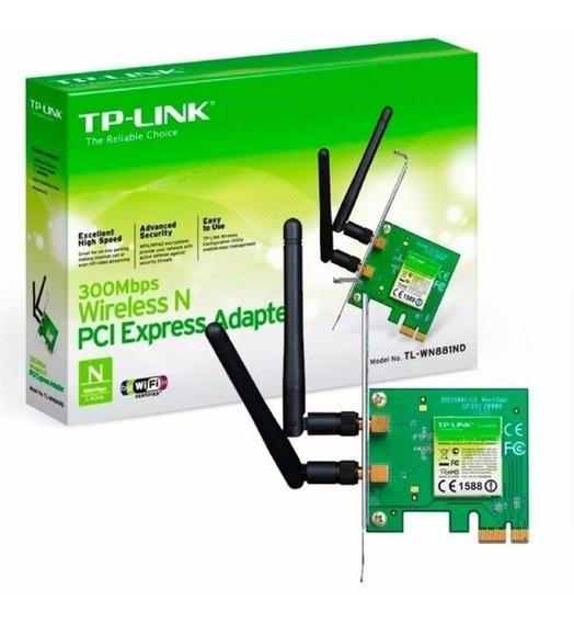 Adaptador Tp-link Pci Exp. Wless 300mbps 2 Antena Tl-wn881nd