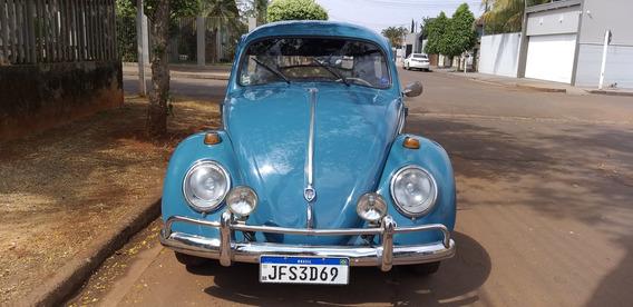 Fusca 1963 Azul 1500 Com Radiador De Óleo Sporte System