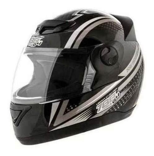 Capacete Moto Preto Cinza Evolution 58 11443