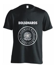 Camisa Bolsonaros - Bolsonaro Presidente , Cor:preto,