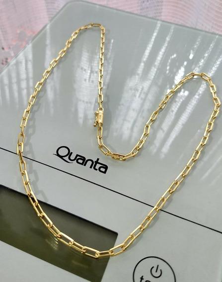 Cordão Cartier 3mm 60cm Banhados A Ouro 18k
