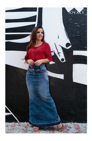 Saia Jeans Longa Joyaly Galaxy